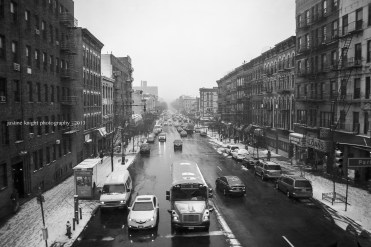 Justine Knight | Snow on West 125th Street