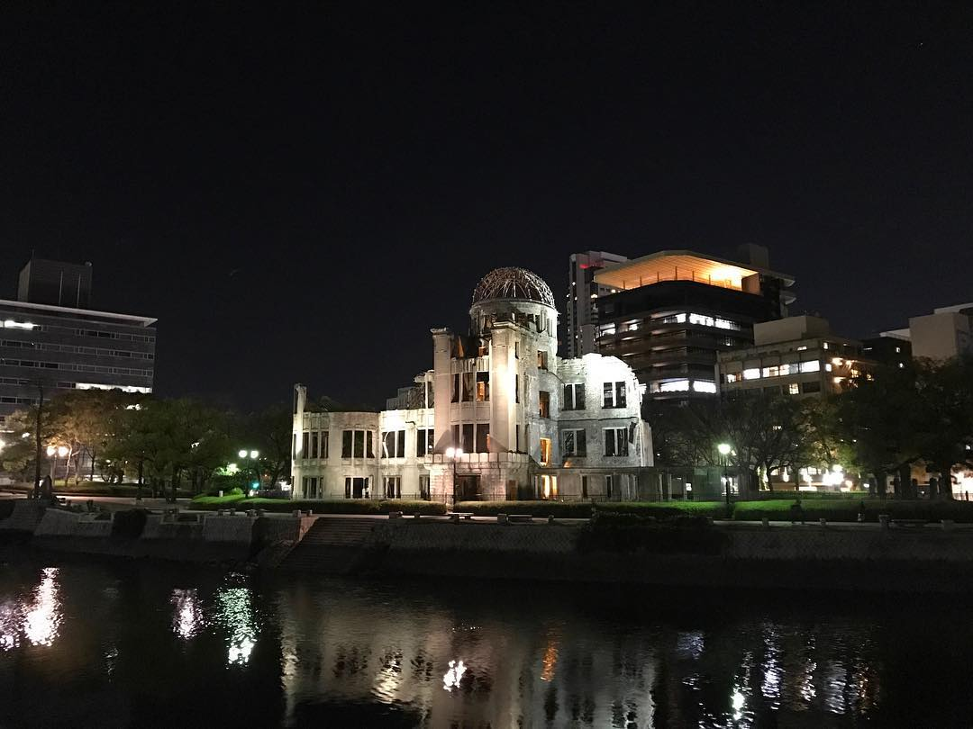 One of the building that withstand the Atomic bomb blast in Hiroshima, the A-Bomb Dome. Right next to the Genbaku-Dome Mae Tram station.  Taking the time to enjoy historical visit in between the Shinkansen rushing.  #Hiroshima #SushinaimiTrip
