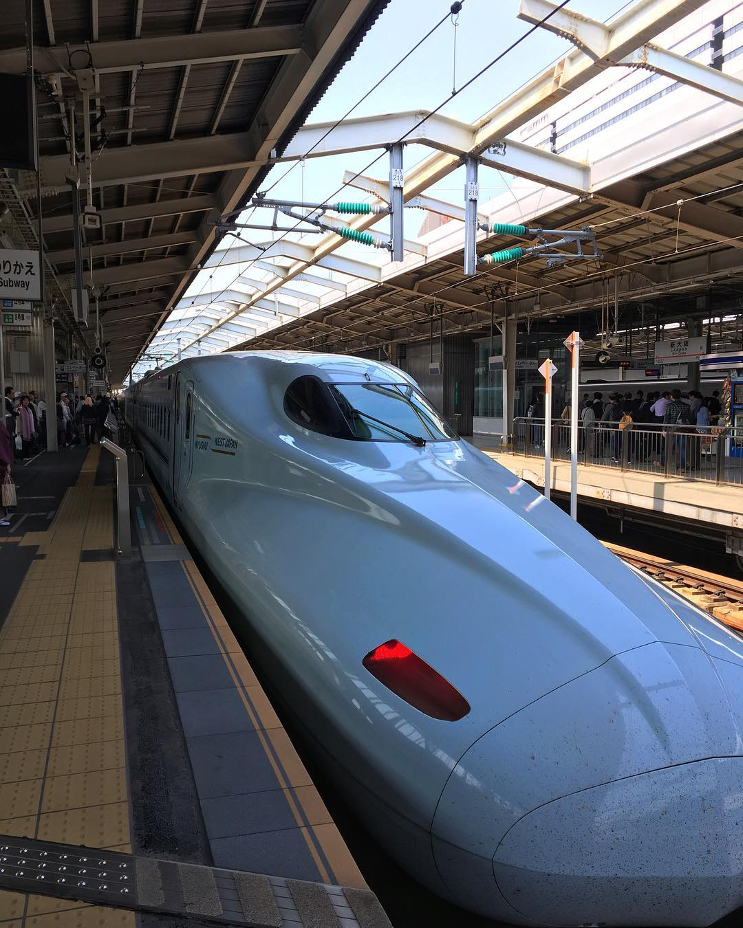Shinkansen. One of the things that I miss in Japan. It sure is fun chasing the bullet train by the right name, platform, departure time and the right cabin car.  This here is the Hikari Shinkansen, my ride from Osaka to Hakata in Kyushu Island. Over 610km+ in less than 3 hours. Capable of going up to 300km/h.  #Osaka #Hakata #Sakura #Shinkansen  #Japan #SushinaimiTrip  P/s: Back to KL. More Japan throwback pics are coming.