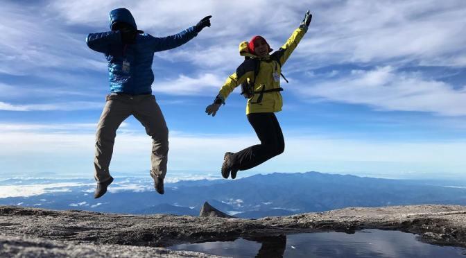 Konon-konon lompat ni dengan harapan boleh sampai kaki gunung terus.  #NaimiSabahBha