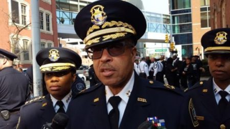 Detroit Police Chief James Craig discusses a shooting in the Boston Edison district. (credit: Mike Campbell/WWJ)
