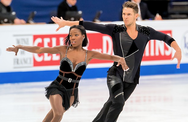 France's Vanessa James and Morgan Cipres perform their short program at the 2017 World Figure Skating Championships.