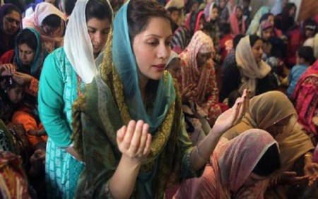 This March 27, 2016 file photo shows Pakistani Christian women praying during an Easter service in Lahore. The Pakistan Penal Code prohibits blasphemy against any recognized religion, providing penalties ranging from a fine to death. | Photo Credit: K.M. Chaudary