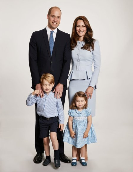 The picture used on the Duke and Duchess of Cambridge's 2017 Christmas card which was taken by Getty Images royal photographer Chris Jackson at Kensington Palace showing the royal couple with their children Prince George and Princess Charlotte. PRESS ASSOCIATION Photo. Issue date: Monday December 18, 2017. See PA story ROYAL Charlotte. Photo credit should read: Chris Jackson/Getty Images/PA Wire