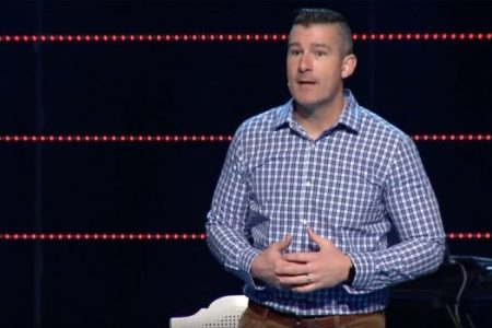 """Andy Savage, a pastor at a Memphis megachurch, received a standing ovation after apologizing to a woman who said he assaulted her when she was a teenager. """"It's disgusting,"""" the woman said. Credit Highpoint Church, via YouTube"""