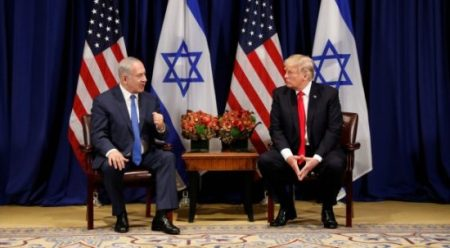 U.S. President Donald Trump meets with Israeli Prime Minister Benjamin Netanyahu in New York. (REUTERS/Kevin Lamarque)