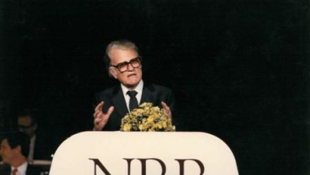 Billy Graham addressed the annual NRB Convention in 1988.