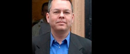 "FILE - In this undated file photo, Andrew Brunson, an American pastor, stands in Izmir, Turkey. The trial of an American pastor imprisoned in Turkey, whose case is part of the quagmire of tense relations between Washington and Ankara, is set to begin Monday, April 15, 2018 in western Izmir province. Andrew Craig Brunson, an evangelical pastor from North Carolina, is facing 35 years in prison on the charges of ""committing crimes on behalf of terror groups without being a member"" and ""espionage."" (DHA-Depo Photos via AP, File)"