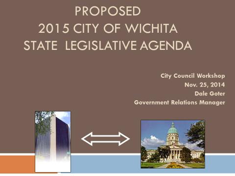City of Wichita 2015 Proposed Legislative Agenda cover