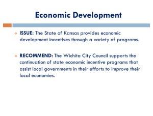 Wichita Legislative Agenda, November 2014, page 16, Economic Development