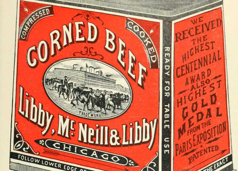 Libby corned beef can