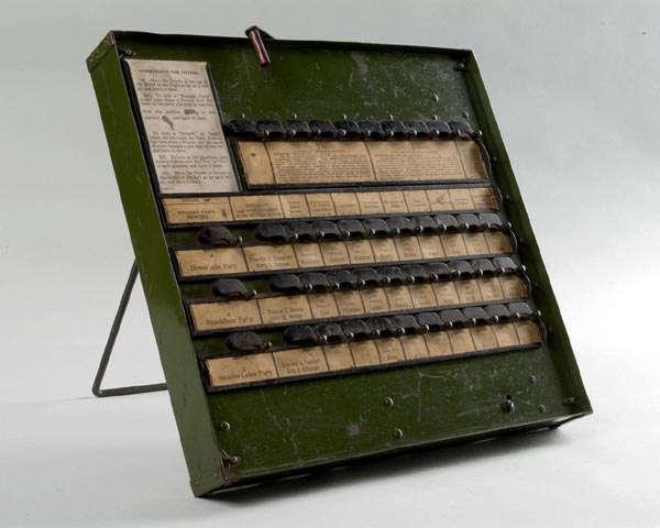 Voting machine, levers, training model