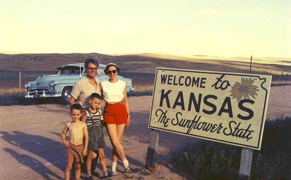 Welcome to Kansas the Sunflower State 1954