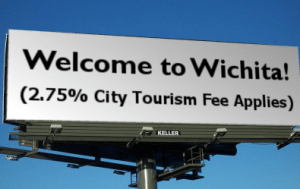 Welcome to Wichita Tourism Fee billboard