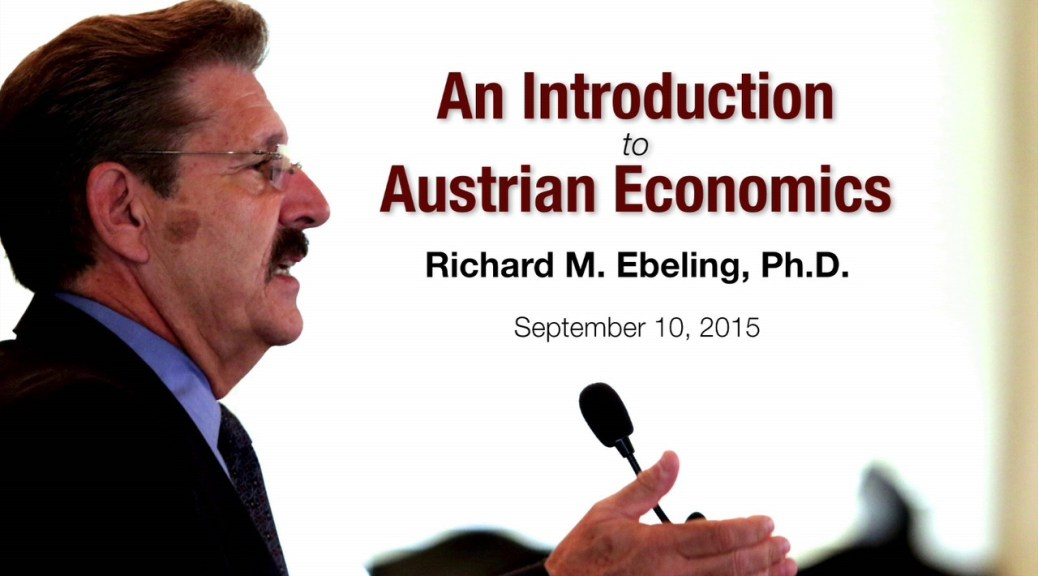 Introduction to Austrian economics Ebeling Cover
