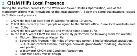 Wichita city document, excerpt.