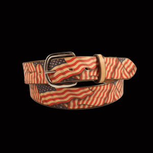 American Flag Pattern Belt