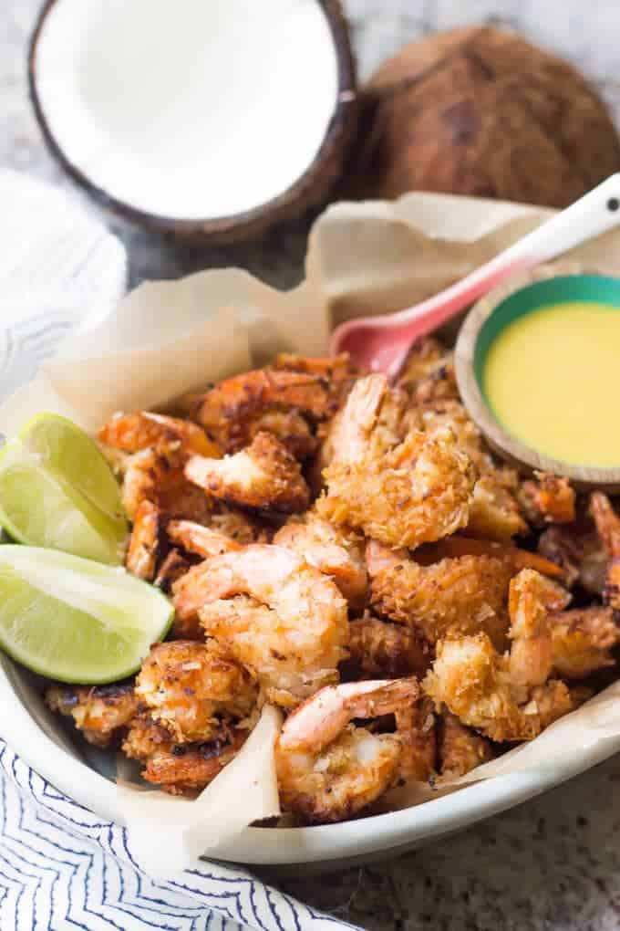 Paleo Coconut Shrimp with Orange Marmalade
