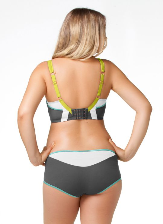 Cake Lemon Zest Pro Impact Flexi-wire Nursing Sports Bra. Image from cake maternity.com.