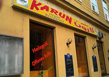 Libanesische Küche im Restaurant Karun