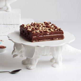 Kuchenplatte Sauria – Tortenplatte mit Dinosaurier-Standfuß von Seletti