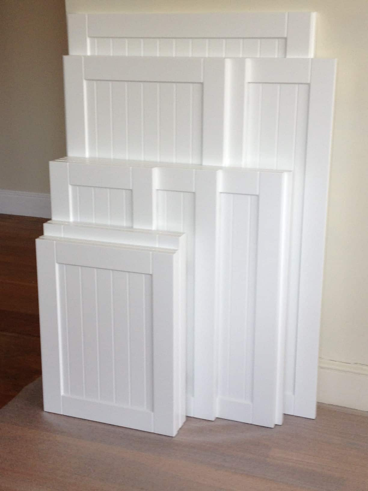 kitchen makeover part 2 kitchen cabinet door replacement Pin this Shaker style cabinet with beadboard accent