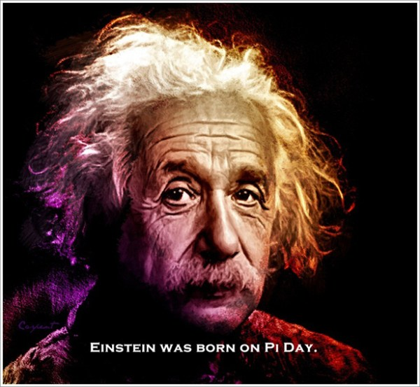 Einstein was born on Pi day.