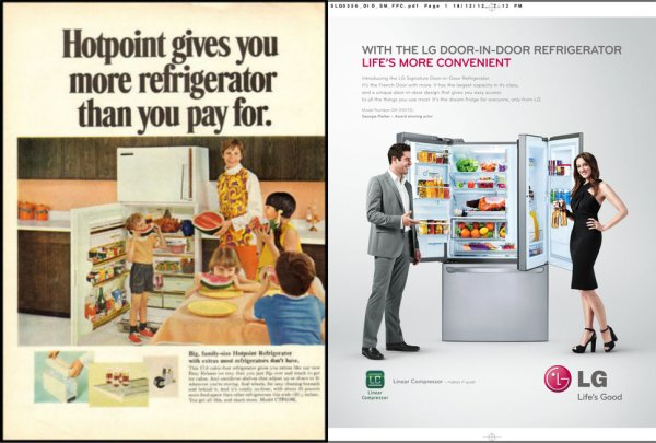 """fancy fridge"" used to mean ""comes with an ice bucket."""