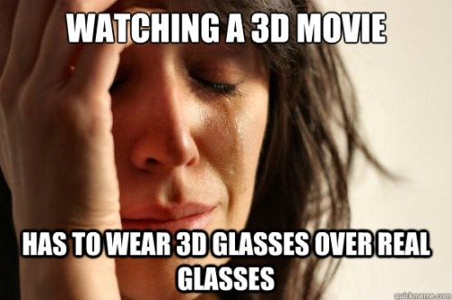 The struggle is real when watching a 3D movie