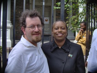 Green Ian Wilder with Cynthia McKinney