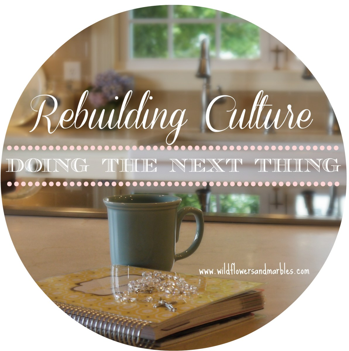 Truth & Beauty: Rebuilding Culture By Doing the Next Thing