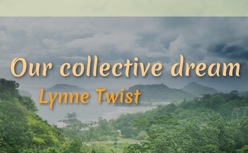 Video Inspiration : Our collective dream – Lynne Twist