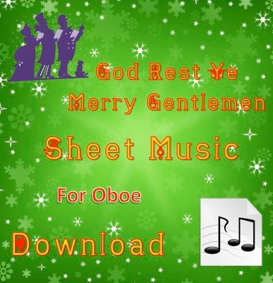 God Rest Ye Merry Gentlemen Oboe Sheet Music