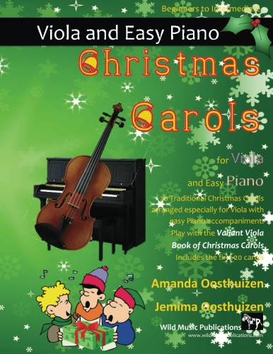 Christmas Carols for Viola and Easy Piano