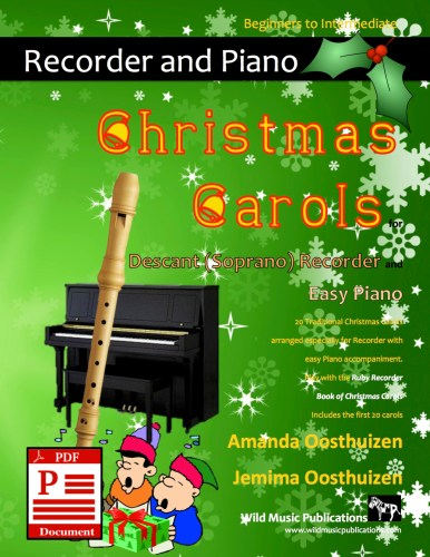 Christmas Carols for Recorder and Easy Piano Download