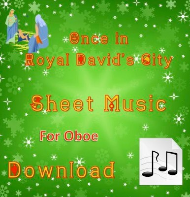 Once in Royal David's City Oboe Sheet Music