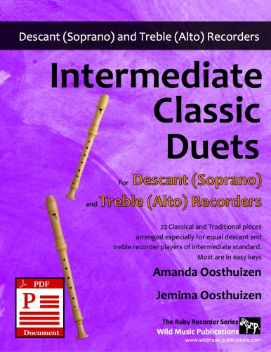 Intermediate Classic Duets for Descant and Treble Recorders Download
