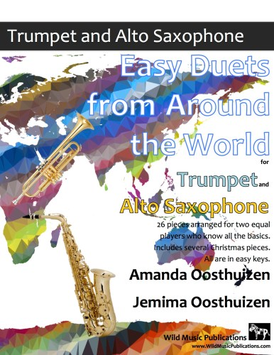 Easy Duets from Around the World for Trumpet and Alto Saxophone