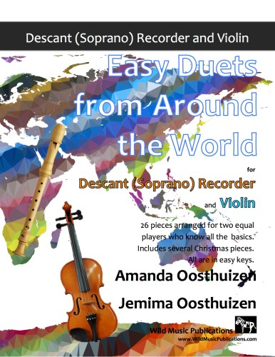 Easy Duets from Around the World for Descant Recorder and Violin