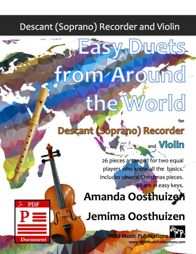 Easy Duets from Around the World for Descant Recorder and Violin Download