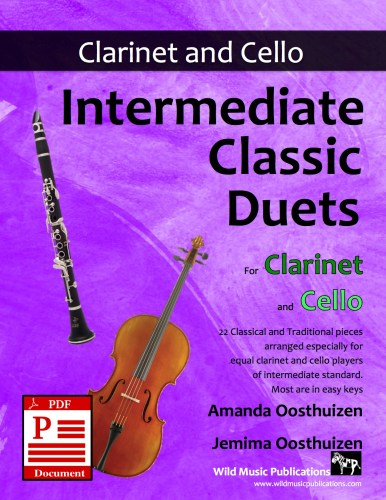 Intermediate Classic Duets for Clarinet and Cello Download