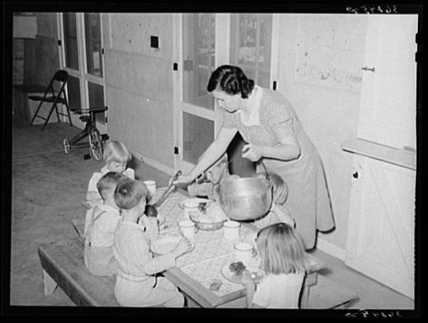 female worker in WPA lunch room