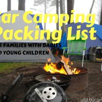 Car Camping Packing List for Families with Babies and Young Children