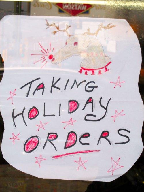 HolidayOrders