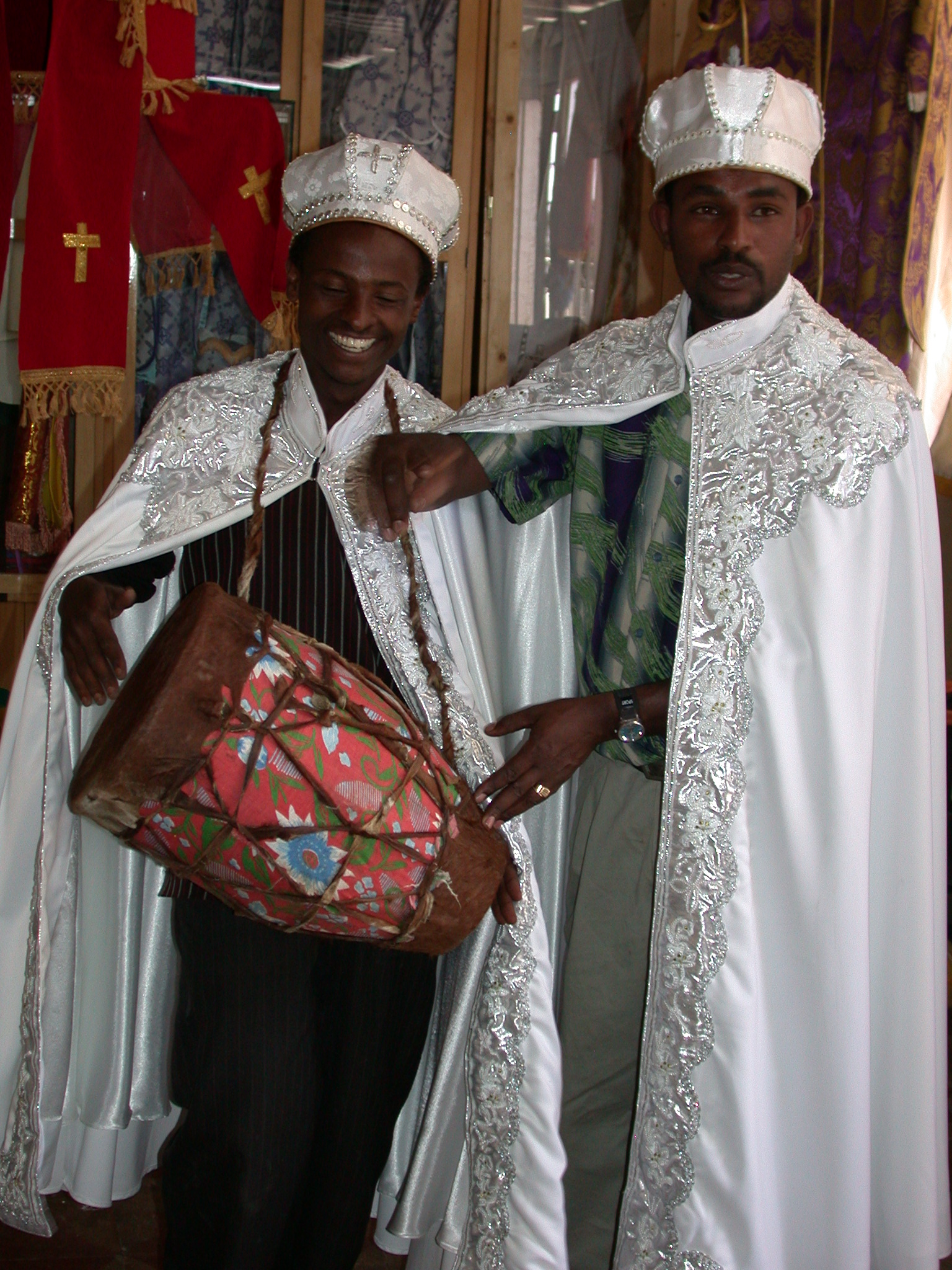 cat 13&paged 6 ethiopian wedding dress Ethiopia Shop Employee and Tamir in Wedding Gowns at Church Shop Addis Ababa Ethiopia