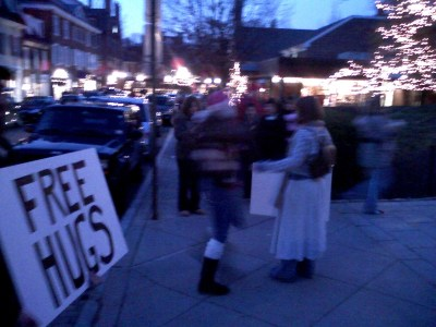 Free Hugs by Bill Wolff taken in Princeton, NJ, 28 Nov 2008