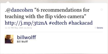 tweet to hackacad