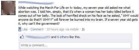 Pro-Life Facebook Post