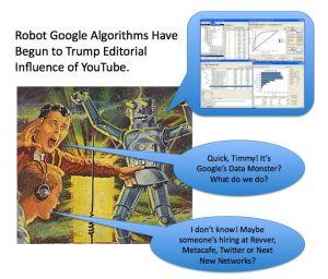 Google-Data Robots Eat YouTube Editors' Brains for Fuel