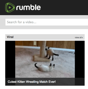 Rumble: Because the world needs another video-sharing site for cats.